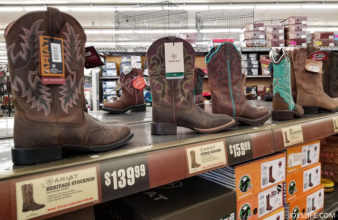 boots at the Tractor Supply Co