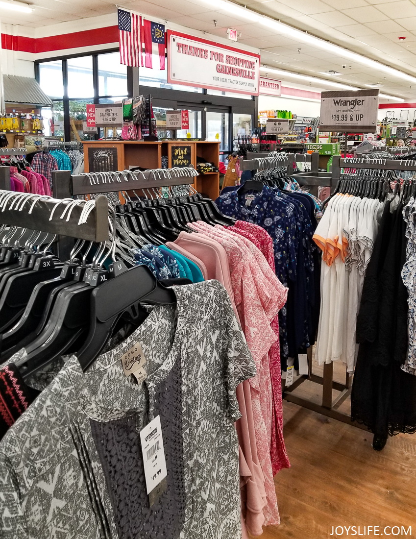 clothes at the tractor supply co