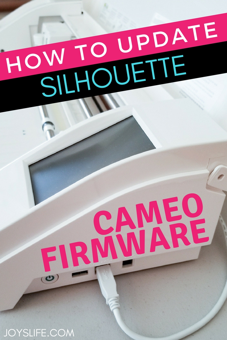 How to Update Silhouette Cameo Firmware
