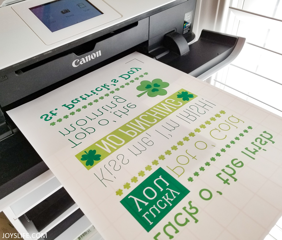 Silhouette Printable Material print and cut