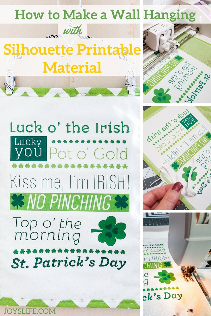 St Patricks Day wall hanging with Silhouette Printable Material