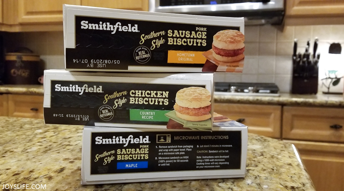 smithfield biscuit stacked boxes.