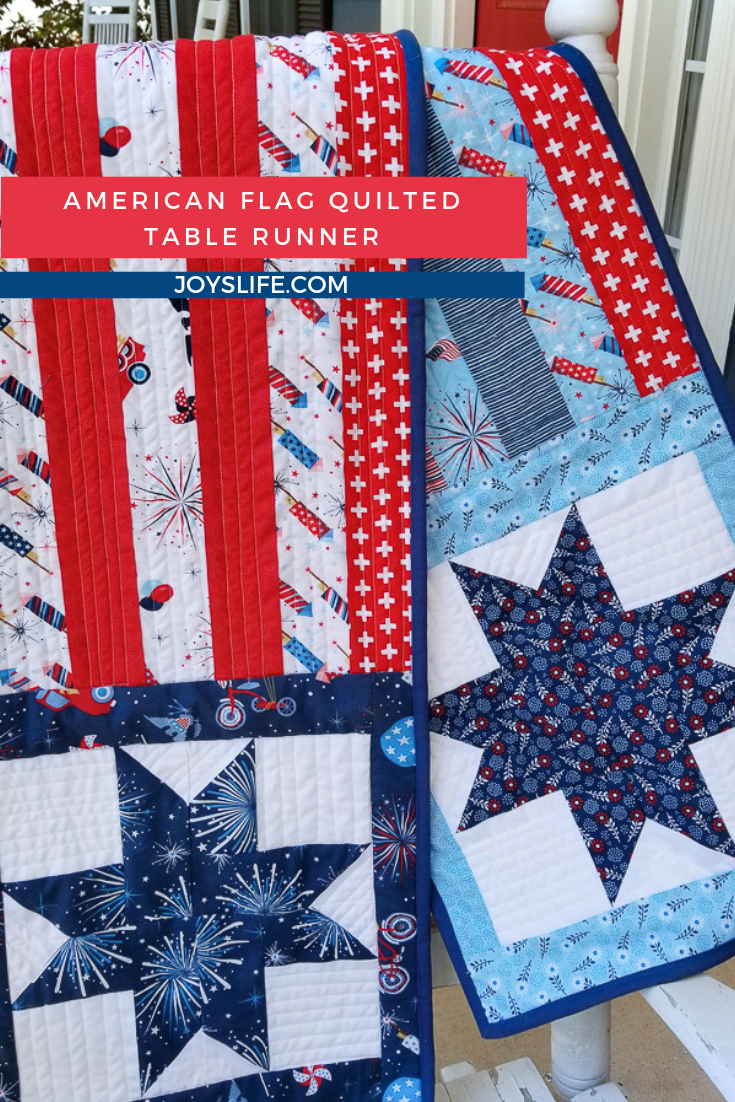 American Flag Quilted Table Runner