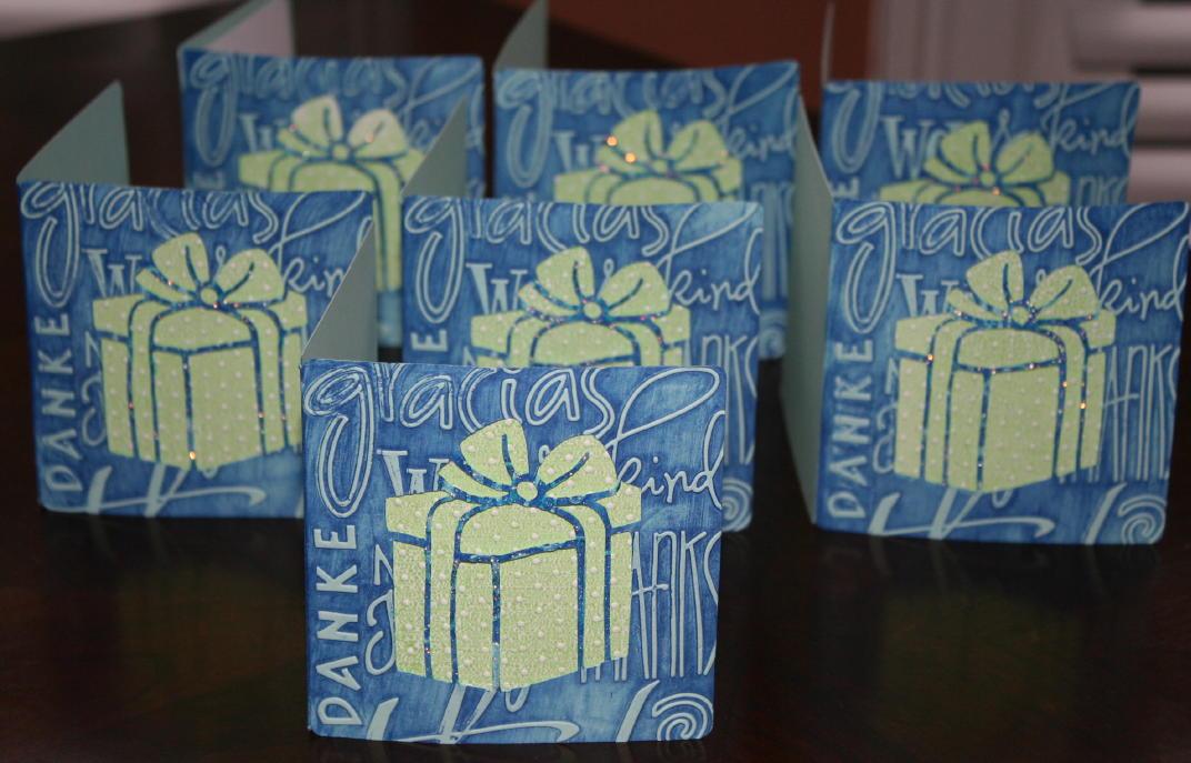 Cricut Sweethearts Thank You cards…